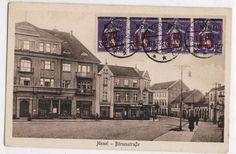 Memel Börsenstraße AK 1923 Klaipėda revolte  Franz. Memel Briefmarke  unbesch.