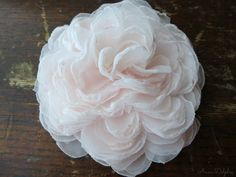 Blush Pink Peony Hair Flower  Wedding Hair by AnnaDelphiaBridal, $18.00