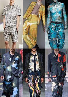 Menswear Spring/Summer 2016 Catwalk Print & Pattern Trend Highlights Part 2 - Artists Studio - Joseph / Acne / Man / Yohji Yamamoto / James Long / Yohji Yamamoto