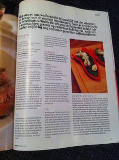 In Food Kerstspecial 2013 verscheen dit artikel over de OvenPlank