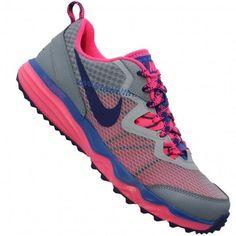 NEW NIKE DUAL FUSION TRAIL Running WOMENS Gray HYPER PINK NIB #Nike #Running