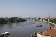 Szeged is the third largest city of Hungary, the largest city and regional centre of the Southern Great Plain and the county town of Csongrád county. Here is a view over the Tisza river Great Plains, Regional, Hungary, Centre, Third, Southern, River, Stock Photos, Explore