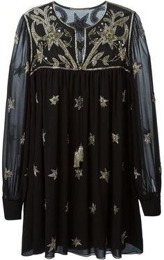 Saint Laurent embroidered tunic dress on shopstyle.com