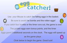 Play a free egg catcher game online! Egg Game, The Game Is Over, Catcher, United Kingdom, Ireland, Canada, Australia, Play, Free