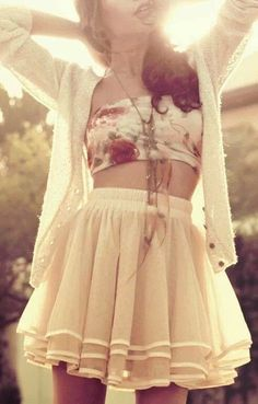 ♥♡♥♡ That bandeau! And skirt! ♥♡♥♡