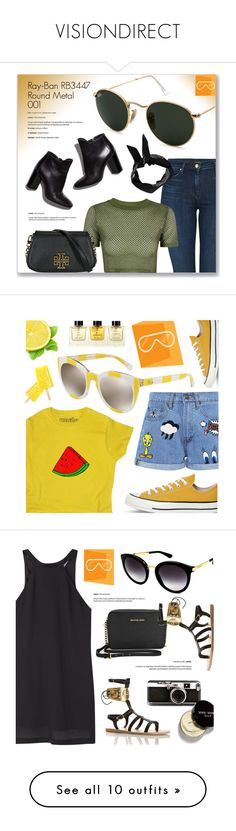 """VISIONDIRECT"" by monmondefou ❤ liked on Polyvore featuring visiondirect, smartbuyglasses, Ray-Ban, J Brand, Topshop, Tory Burch, Pierre Hardy, Boohoo, Paul & Joe Sister and Converse"
