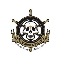Skull 163 © Logo Queen Anne's Revenge, Roller Derby Team Nantes par le Studio LVL, Nantes