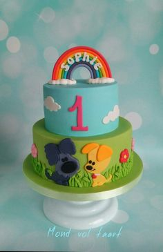 Woezel en Pip - by Mond vol taart 1st Birthday Themes, 1st Boy Birthday, Birthday Cake, Birthday Parties, 1 Year Old Cake, My Sweet Sister, Cakes For Boys, Cute Cakes, My Baby Girl
