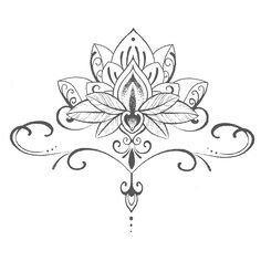 Lotus flower tattoo stencil 16 full size stencils pinterest waterproof temporary tattoo stickers cute buddha lotus flowers large design body art sex products make up styling tools mightylinksfo