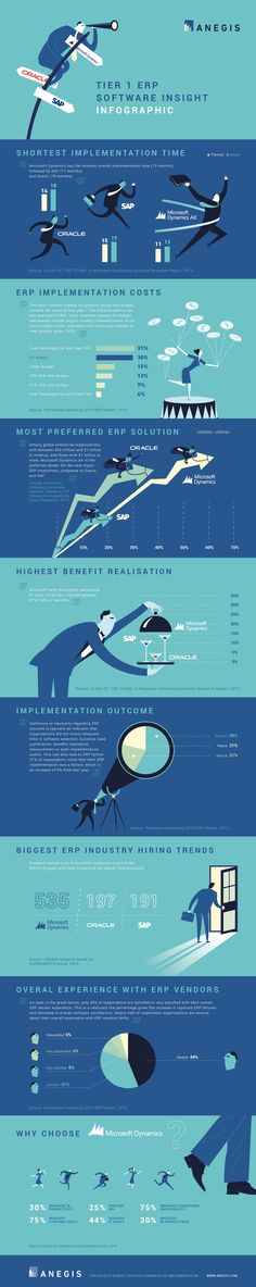 Tier 1 ERP software insight infographic
