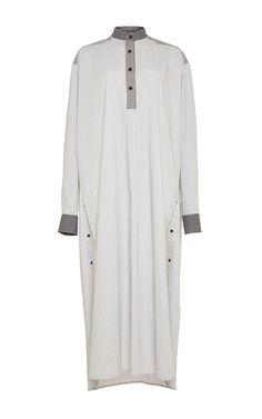 Striped Shirting Mens Nightshirt Dress by Rosetta Getty for Preorder on Moda Operandi