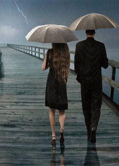 I love walking in the rain.....