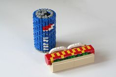 lego food!!  1st time I seen a Pepsi can.
