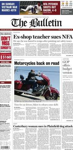 Saturday, April 25, 2015 - Subscribe to The Bulletin today: http://www.norwichbulletin.com/subscribenow #ctnews #newlondoncounty #windhamcounty