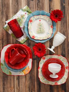 pioneer woman holiday tabletop collection