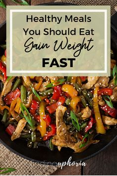 Not sure what you should be eating to gain weight? Well heres the answer.