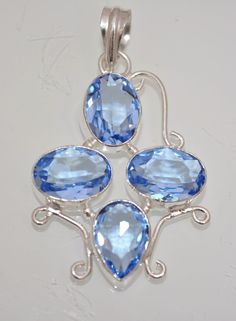 Tribal Fashion Jewerly Hydro Quartz 925 Silver Plated Pendant Gift For Wife A19 #valueforbucks #Pendant
