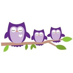 Sleeping Owls Wall Decal ❤ liked on Polyvore featuring home, home decor and wall art