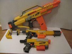 Nerf N-Strike Lot Stampede ECS Alpha Trooper CS-18 Recon CS-6 Yellow No Darts #NERF