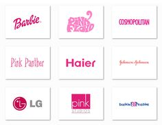Top 10 Famous logos designed in Pink