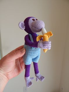 Purple monkey by Dawn Holbrook