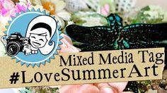 #LoveSummerArt Mixed Media Tag Tutorial