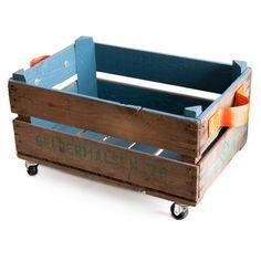 Van oude appelkistjes tot opbergbak! #speelkamer #opruimen | opbergwaar : Opbergbak Blauw iamrecycled.nl