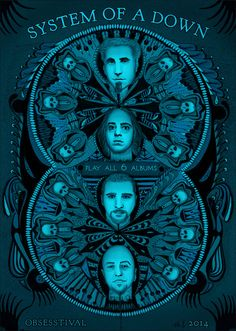 Obsesstival: System of a Down Art Print by Obsesstival