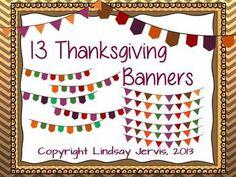 Thanksgiving Pennant Banner Clipart