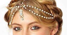 Woodland elf headpiece * elven headpiece * fairy crown headpiece * headdress * chains * bridal accessories *White pearl Graduation Gift