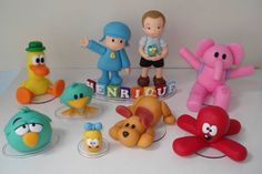 Turma do Pocoyo   De Biscuit   2931C7 - Elo7 Cakes For Boys, Baby Party, Ideas Para, Biscuits, Birthdays, Cupcakes, Children, Decor, Character