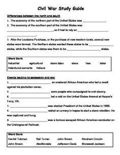 civil war study guide civil wars social studies and school rh pinterest com civil war study guide answer key civil war study guide 6th grade
