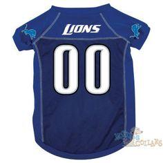 Detroit Lions NFL Football Dog Jersey - CLEARANCE available at  HotDogCollars.com Football Jerseys edaa482d1