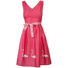 In our tropical Flamingo print - Rose features a fitted bodice, V-shape neckline, side zip and rose pink sash around the waist. Hand illustrated print Full cotton lining Sits just below the knee organic cotton sateen Machine washable Storybook included Girls Short Dresses, Summer Dresses, Flamingo Outfit, Rose Dress, Pretty Dresses, Beautiful Outfits, Couture, Clothes For Women, Womens Fashion