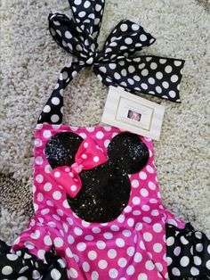 Minnie Mouse Glitter Romper - ready to ship
