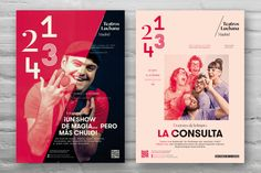 Corporate identity, graphic campaign and signage elements for the newly Teatros Luchana in Madrid (Spain). The new identity plays with the unique idea of the 4 spaces and the different type of shows in each one. That's why we use the numbers 1, 2, 3 & 4 and a different type for each one. We want to explain the different personality of each room. Every space has its own type for the communication program to easy identify the type with the room number.  Communication campaign: Creative and…