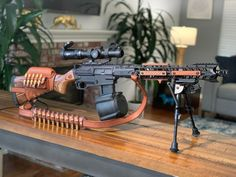 is here for your favorite black gun links, build pics, questions and other tactical or practical information. Zombie Weapons, Weapons Guns, Guns And Ammo, Tactical Equipment, Tactical Gear, Airsoft, Ar 15 Builds, Concept Weapons, Custom Guns