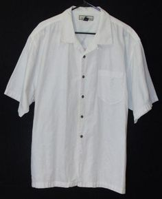 Tommy Bahama Mens Dress Shirt Button Up Down White Casual Stylish