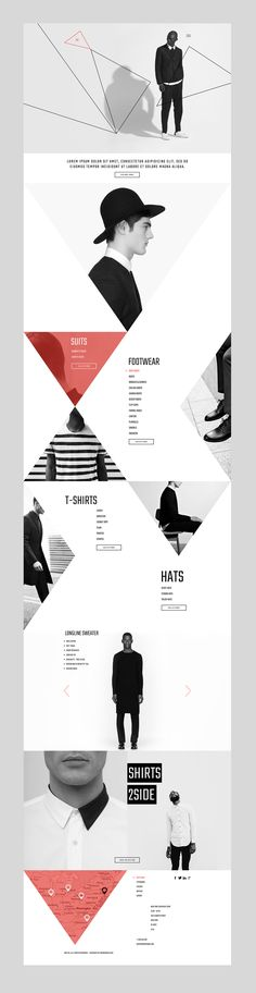 "Website Design Concept for Men's clothing brand ""HE""."