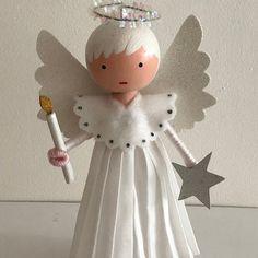 Diy Christmas Tree Topper, Diy Tree Topper, Christmas Tree Angel, Victorian Christmas Ornaments, Christmas Ornament Crafts, Christmas Figurines, Christmas Crafts, Christmas Decorations, Angel Ornaments