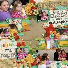 All papers and elements  - Little Artist Bundle by Digilicious Design http://www.sweetshoppedesigns.com/sweetshoppe/product.php?productid=31637&cat=769&page=2  Template - Cindy's Layered Templates - Single 98: Lots of Snapshots 56 by Cindy Schneider http://www.sweetshoppedesigns.com/sweetshoppe/product.php?productid=31173&page=1