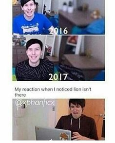 OMG NO I DIDNT NOTICE WHERE IS LION PHIL PHIL DONT TELL ME U GOT RID OF IT