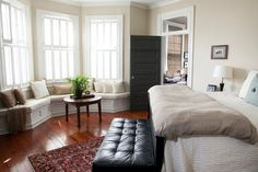 Maybe a window seat for extra storage in MBR bay windows? Also, like door into what would be our MBa with window above.