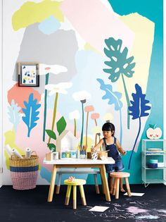 A fun and exciting pastel themed room for your kids bedroom.