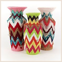 Woven vases from Swaziland