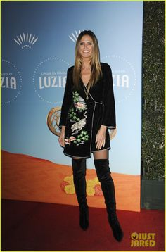 Heidi Klum & Jessica Alba Have Weeknight Out at Cirque du Soleil: Luzia Launch!