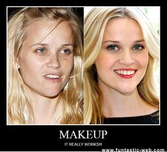 Is it just me, or does Reese still look beautiful without the makeup?!!  :)