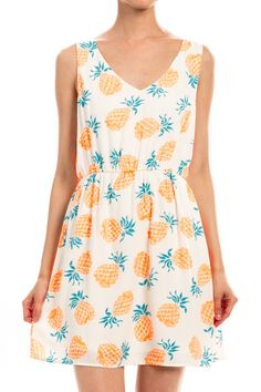 Sweetest Pineapple Dress – Pree Brulee