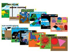Level One readers for pre-k and kindergarten children starting the CAAN Read program. Themes include colours and simple sight words. Blue Bus, Preschool Age, Sight Words, Kindergarten, Colours, Yellow, Reading, Children, Simple
