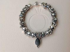 My Moonstone bracelet comprised entirely of retired Pandora moonstone beads.